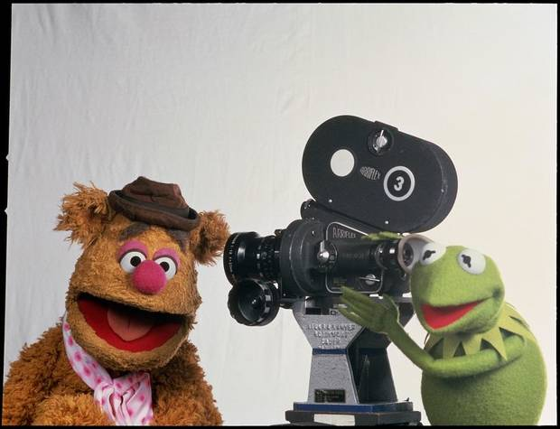 "Fozzie Bear (performed by Frank Oz) and Kermit the Frog (the late Jim Henson) star in ""The Muppet Movie."" [Fathom Events photo]"