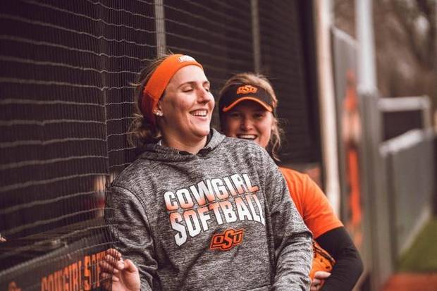 OSU softball: Transfer Carrie Eberle brings talent, experience to strong Cowgirl pitching staff