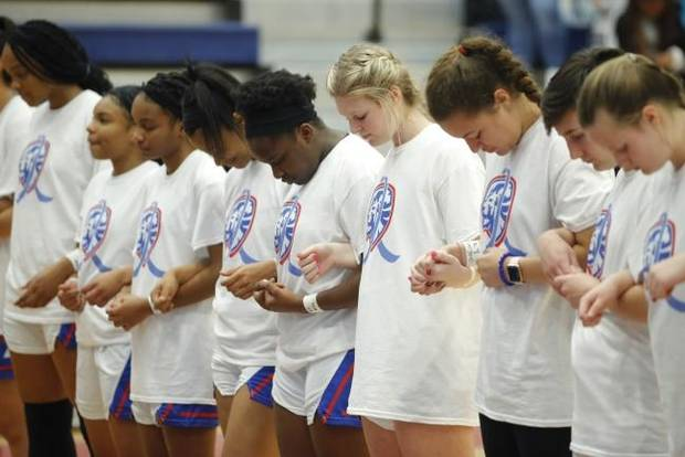 'We get to play for those six in honor of them': Moore High School plays first games since Monday's tragedy