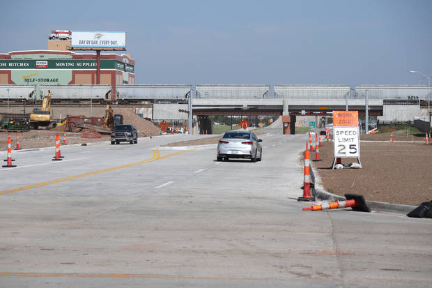 The Oklahoma City Boulevard opened Wednesday between Robinson and Hudson avenues, extending the connection to E.K. Gaylord Boulevard in downtown Oklahoma City. [Photo by Doug Hoke, The Oklahoman]