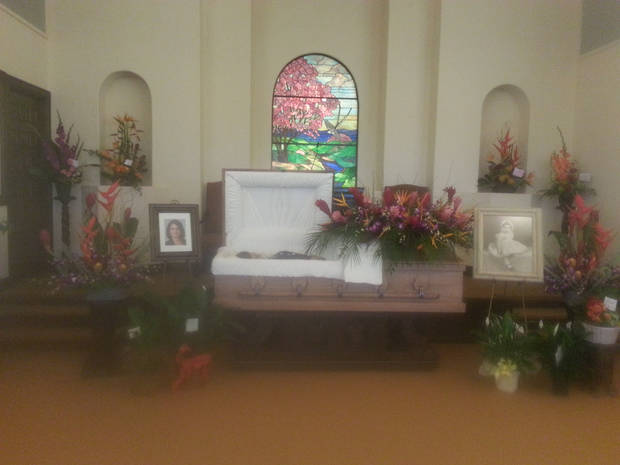 Reed's funeral. Photo provided.