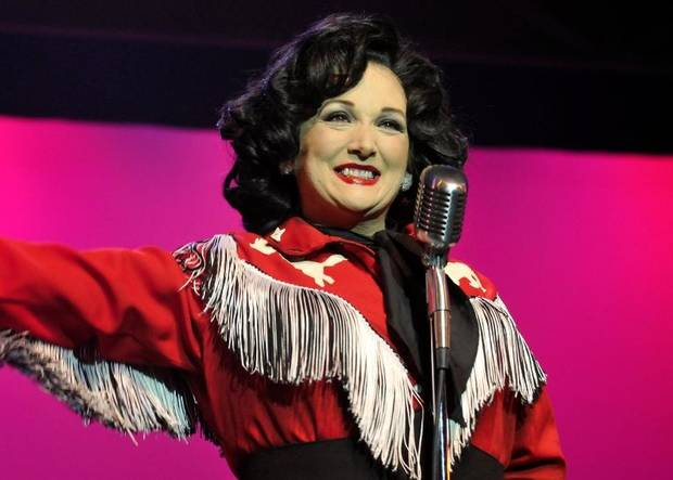 "Julie Johnson plays Patsy Cline in Oklahoma City Repertory Theatre's production of the musical biopic ""A Closer Walk with Patsy Cline."" Photo provided"
