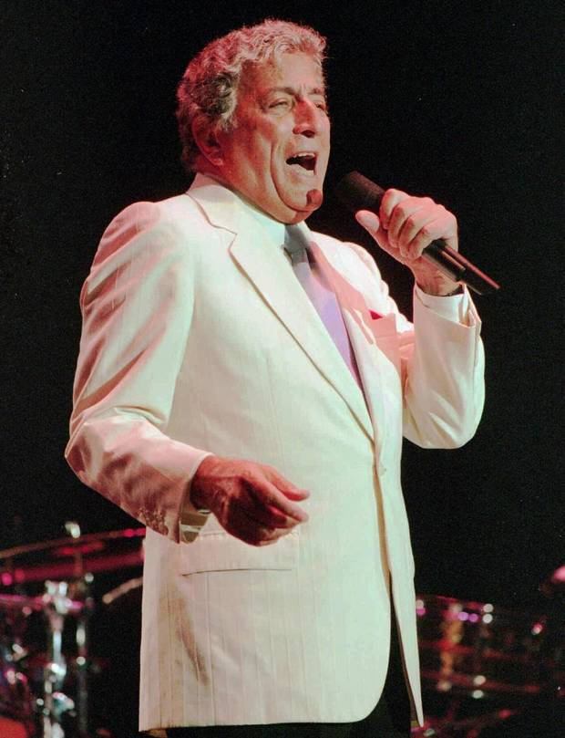"Tony Bennett performs during the July 22, 1995, ""Healing in the Heartland Appreciation Celebration"" at State Fair Arena. The concert was intended to bring people together and celebrate the state's cohesion after the Oklahoma City bombing. [The Oklahoman Archives]"