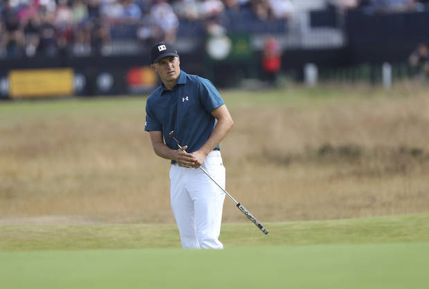 Spieth part of 3-way tie for British Open lead as Woods lurks