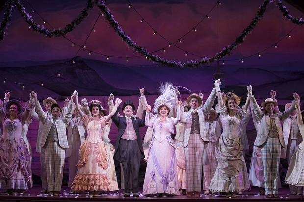 "The ""Hello, Dolly!"" national tour company performs in 2018. [Photo by Julieta Cervantes]"