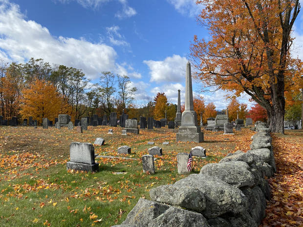 The cemetery in Canterbury, New Hampshire. (Photo by Tricia Tramel)