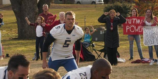 "Alan Ritchson appears in the R-rated football comedy ""The Turkey Bowl."" [Lionsgate photo]"