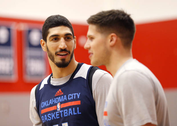 Enes Kanter has donated $25,000 to the Hurricane Harvey relief effort. Photo by Sarah Phipps, The Oklahoman