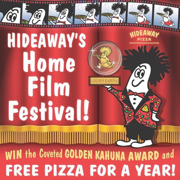 In light of the coronavirus pandemic and the public health advice for families and children to stay at home, Hideaway Pizza is launching its inaugural Home Film Festival. [Photo provided]