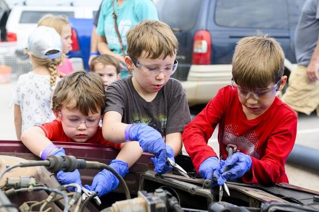 Science Museum Oklahoma is partnering with the Oklahoma City Parks Department Saturday for Tinker in the Parks, a free afternoon of exploring creativity, collaboration and community with outdoor tinkering activities. The museum will host Saturday its now-famous car take-apart activity. [Photo provided]