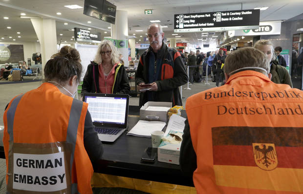No need to swim: Germans stuck in New Zealand fly home