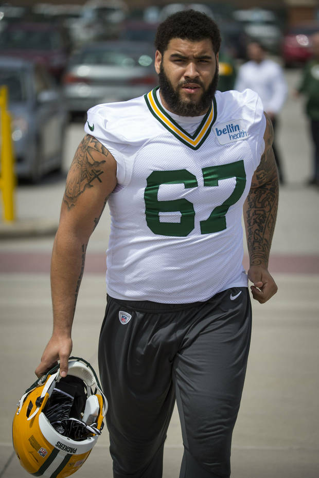 Green Bay Packers Larry Williams during NFL football OTA practice Tuesday May 21, 2019 in Green Bay, Wis.. (AP Photo/Mike Roemer)