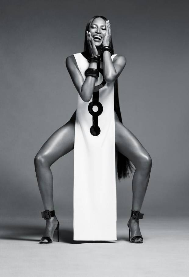 A shot from the new NARS beauty campaign starring model Naomi Campbell.