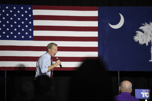 The Latest: Steyer: My commitment to S. Carolina will endure