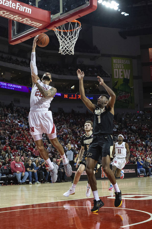 Huskers top Purdue 70-56; Mack's triple-double a 1st for Neb