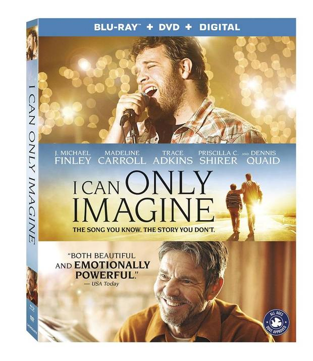 "The Oklahoma-made movie ""I Can Only Imagine,"" based on the story behind the smash song of the same name, debuts today on Blu-ray and DVD. DVD cover image provided"