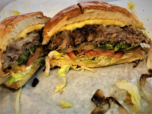 A look inside the Impossible Burger at Tucker's Onion Burgers..