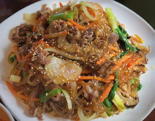 Japchae from Taste of Korea in Oklahoma City. [Dave Cathey/The Oklahoman]