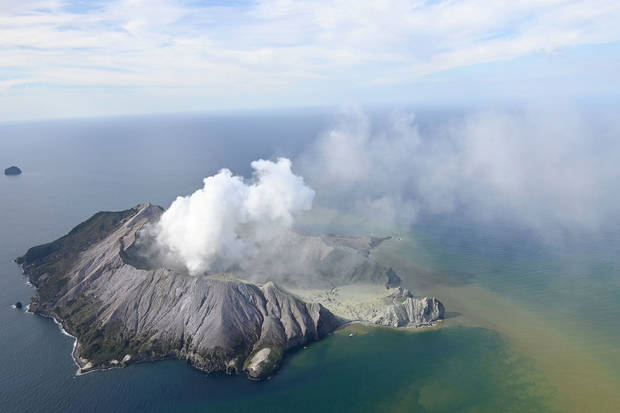 Up to 13 feared dead in volcanic eruption off New Zealand