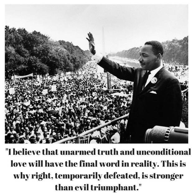 The photo above was taken Aug. 28, 1963. The Rev. Martin Luther King Jr. waves to a crowd at the Lincoln Memorial during the March on Washington. [Associated Press photo] Quote from: Nobel Peace Prize acceptance speech, Oslo, Norway, 1964.