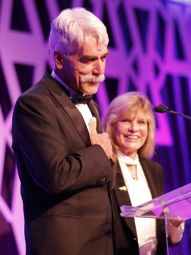 Masters of ceremonies Sam Elliott and Katharine Ross during the National Cowboy & Western Heritage Museum's Western Heritage Awards in Oklahoma City. [Photo by Doug Hoke, The Oklahoman]