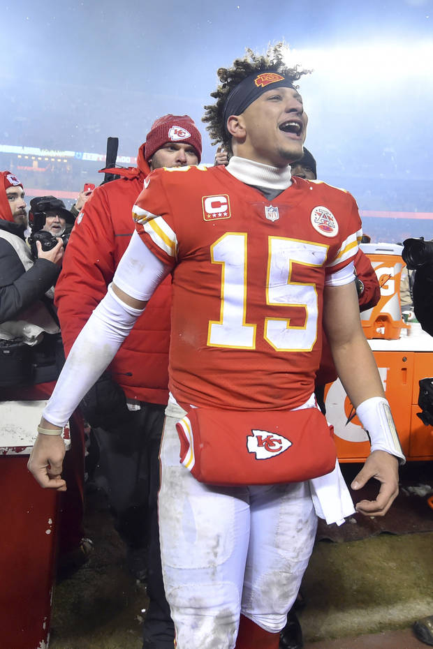 Patrick Mahomes breaks through...