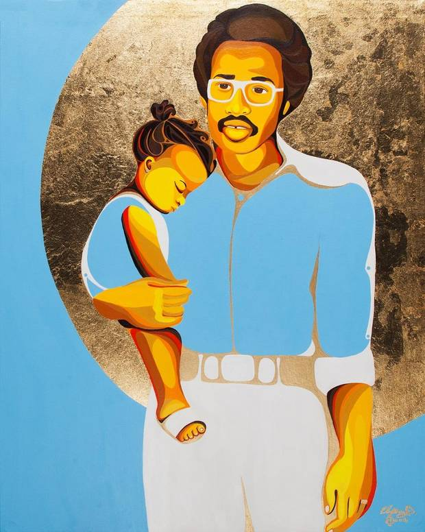 "Oklahoma City artist Ebony Iman Dallas' painting ""Kernel of Eternity"" will be included in her new solo exhibit ""Through Abahay's Eyes (Through My Father's Eyes),"" opening April 6 at The Paseo Plunge. [Image provided]"