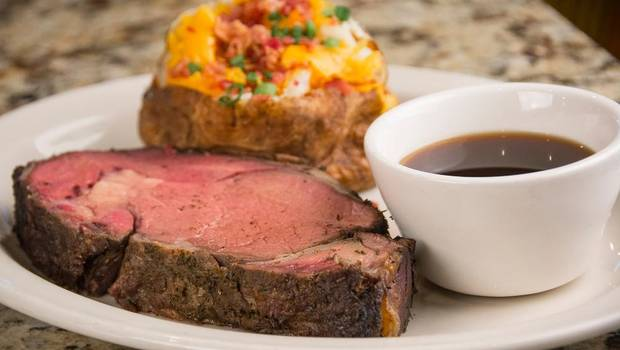 Slow-roasted prime rib. (Photo Provided)