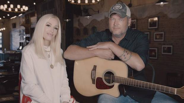 "Gwen Stefani and Blake Shelton appear on the ""Red Nose Day Special"" 2020. [NBC photo]"