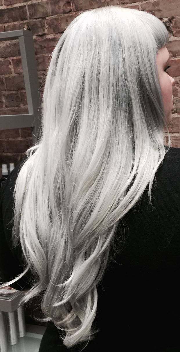 "Eden Salon says that ""granny hair"" is the top hair color trend for 2015"