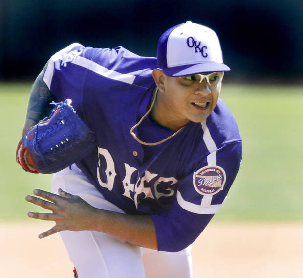 Oklahoma City placed pitcher Julio Urias on the disabled list with shoulder discomfort. Photo by Jim Beckel, The Oklahoman