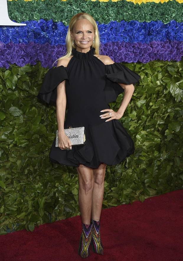 Kristin Chenoweth arrives at the 73rd annual Tony Awards at Radio City Music Hall on Sunday, June 9, 2019, in New York. [Photo by Evan Agostini/Invision/AP]
