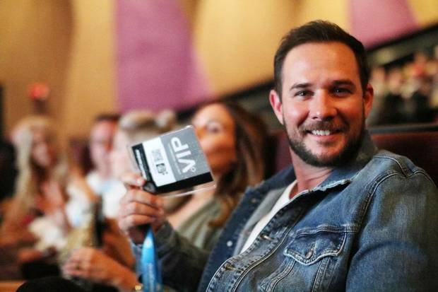 "2018 deadCenter Film Festival Oklahoma Film Icon winner, Ryan Merriman smiles before the screening of ""The Jurassic Games"" at the Harkins Theaters in Bricktown, Friday , June 8, 2018. [Doug Hoke/The Oklahoman Archives]"