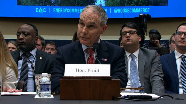 Scott Pruitt's controversial spending and travel decisions were raised right out of the gate at a congressional hearing Thursday, where the embattled administrator of the Environmental Protection Agency came before House members amid weeks of scandal.
