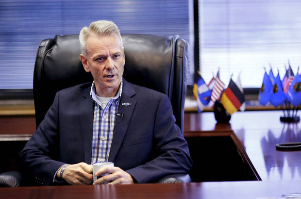 <p>U.S. Rep. Steve Russell, R-Choctaw, at his office in Del City, on Monday, Jan. 16, 2017. [Photo by Jim Beckel, The Oklahoman]</p>