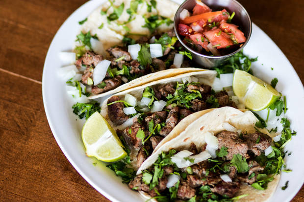 Street tacos made with rib eye at Nic's Place in Oklahoma City, Monday, July 23, 2018. Photo by Anya Magnuson, The Oklahoman
