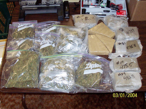 Marijuana confiscated by Oklahoma drug task force agents last year. Photos Provided by Oklahoma District Attorneys Council ORG XMIT: KOD