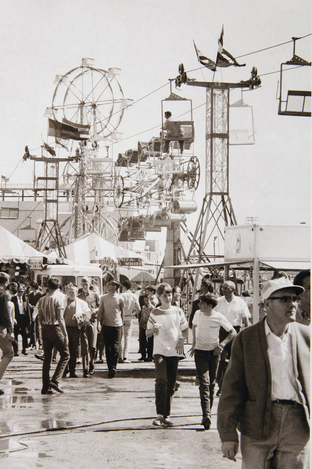 Fair visitors in the early 1960s.