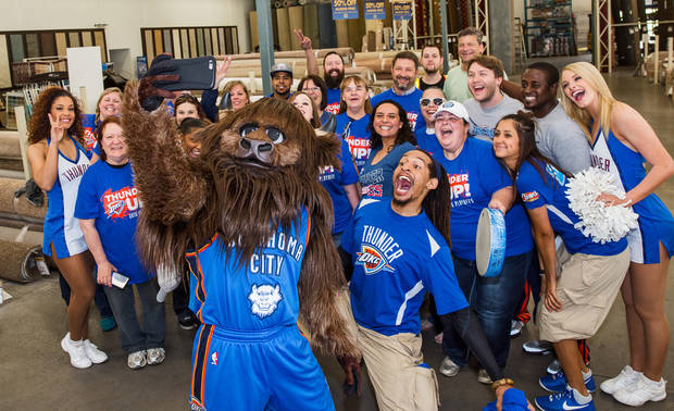 Terrance Briscoe With Rumble, Thunder Girls, Thunder Drummers And Fellow  Storm Chasers Drop In