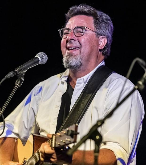 "Country Music Hall of Famer and Oklahoma native Vince Gill performs Tuesday night at ""The Music Never Dies"" benefit concert on behalf of Byron Berline at Guthrie's historic Scottish Rite Temple. [Photo provided by Tom Dunning]"