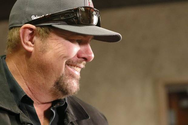 Oklahoma country music star Toby Keith speaks during an interview at Riverwind Casino in Norman, Oklahoma Friday, May 31, 2019. [Paxson Haws/The Oklahoman]