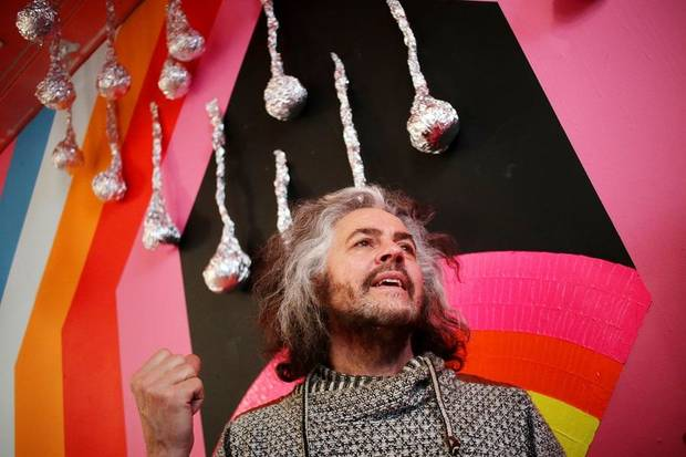 "Wayne Coyne of The Flaming Lips talks about how the ""King's Mouth"" art installation developed at The Womb, Saturday, March 9, 2019. [Doug Hoke/The Oklahoman Archives]"