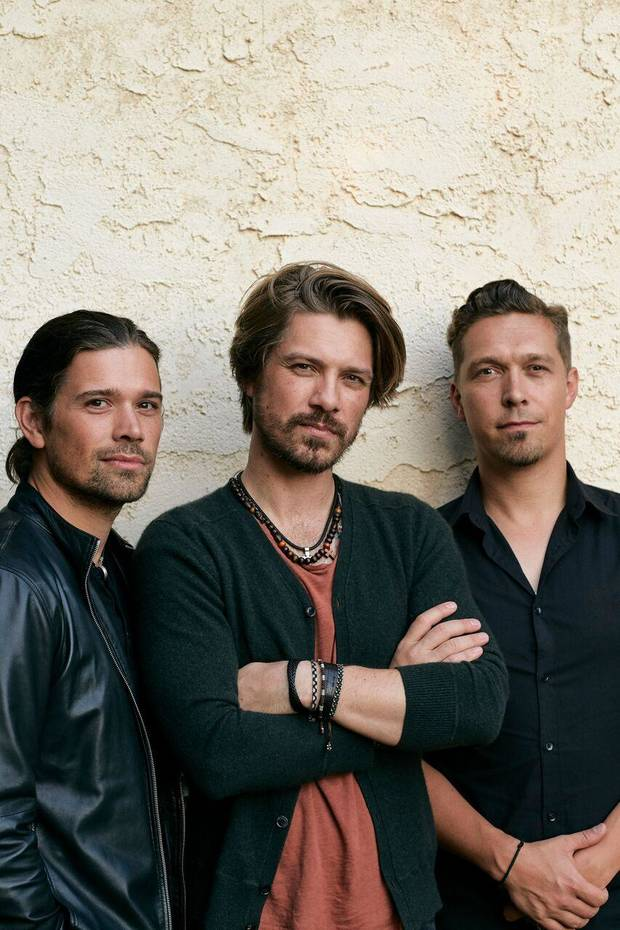 The Tulsa-based band Hanson is, from left, brothers Zac, Taylor and Isaac Hanson. [Photo by Jonathan Weiner]