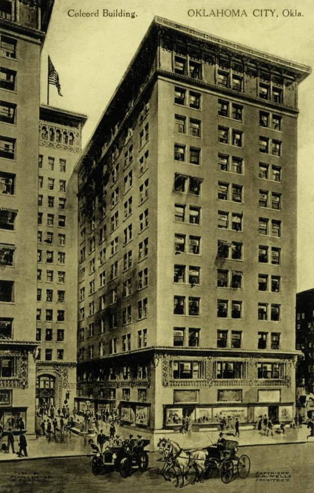 A postcard of the Colcord Building in its early days.