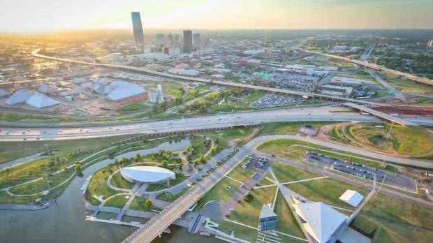 Oklahoma City aerial in 2012. Photo credit Insight Visual Media.