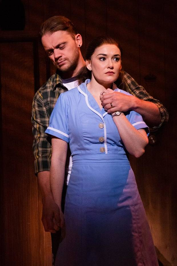 "Matt DeAngelis and Christine Dwyer co-star in the national tour of ""Waitress."" [Photo by Philicia Endelman]"