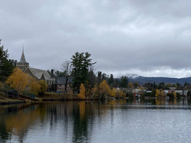The view of Lake Placid across Mirror Lake. (Photo by Tricia Tramel)