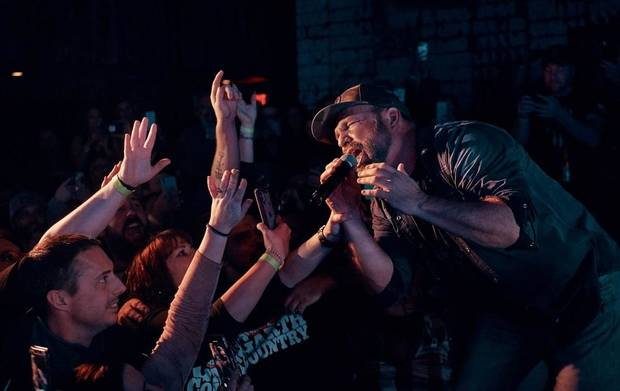 "Garth Brooks performs at his ""Dive Bar"" concert at Six String in Foxborough, Massachusetts. [Photo by 8 Ten Inc.]"