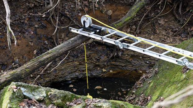 Authorities lower camera into mine shaft as part of investigation of missing Oklahoma girls