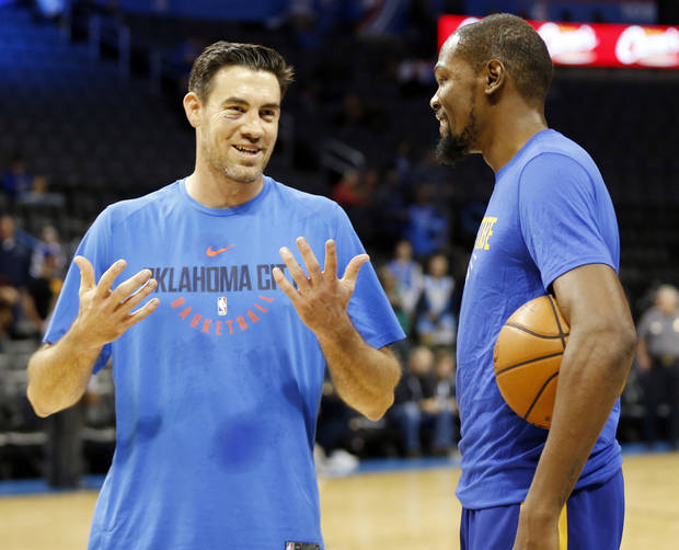 new product db9dc 91f21 Report: Kevin Durant coming to Nick Collison's jersey retirement